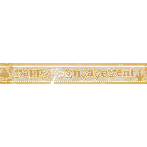 Happy Engagement Holographic Foil Banner